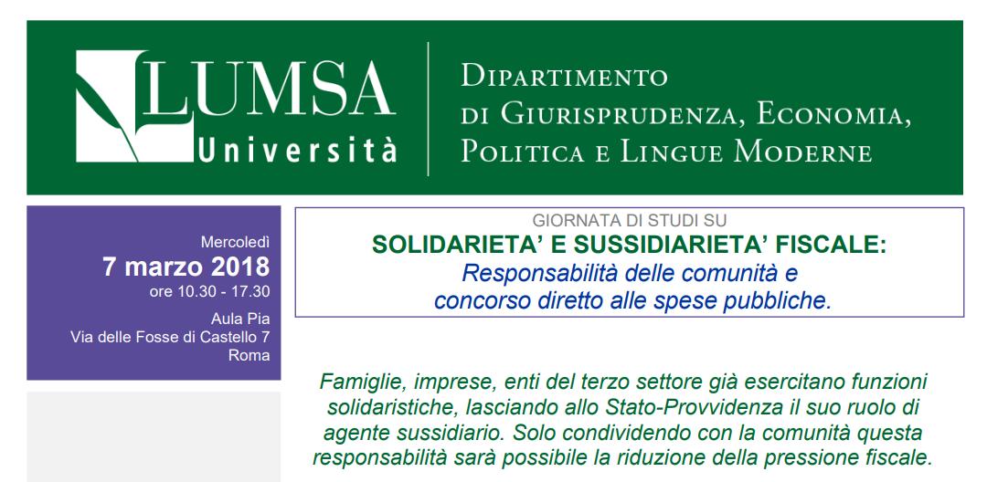 Solidarietà e sussidiarietà fiscale: responsabilità delle comunità e concorso diretto alle spese pubbliche