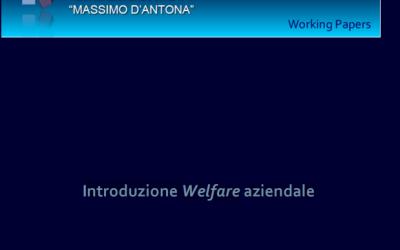 Introduzione Welfare aziendale