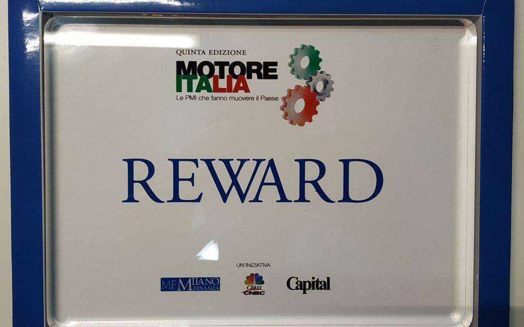 AIWA premiata con il REWARD Motore Italia – Le PMI che fanno muovere il Paese – Progettare/Prepararsi al futuro