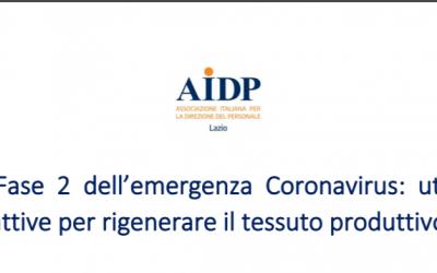 Il nuovo lavoro per il nuovo welfare. La proposta Aidp Lazio
