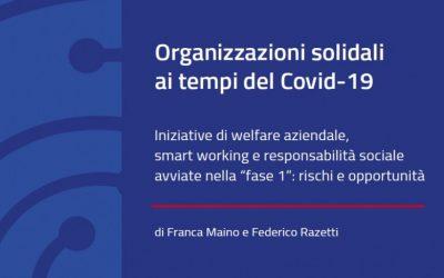 Welfare aziendale e RSI nella Fase 1: disponibile il Rapporto di ricerca di Percorsi di secondo welfare